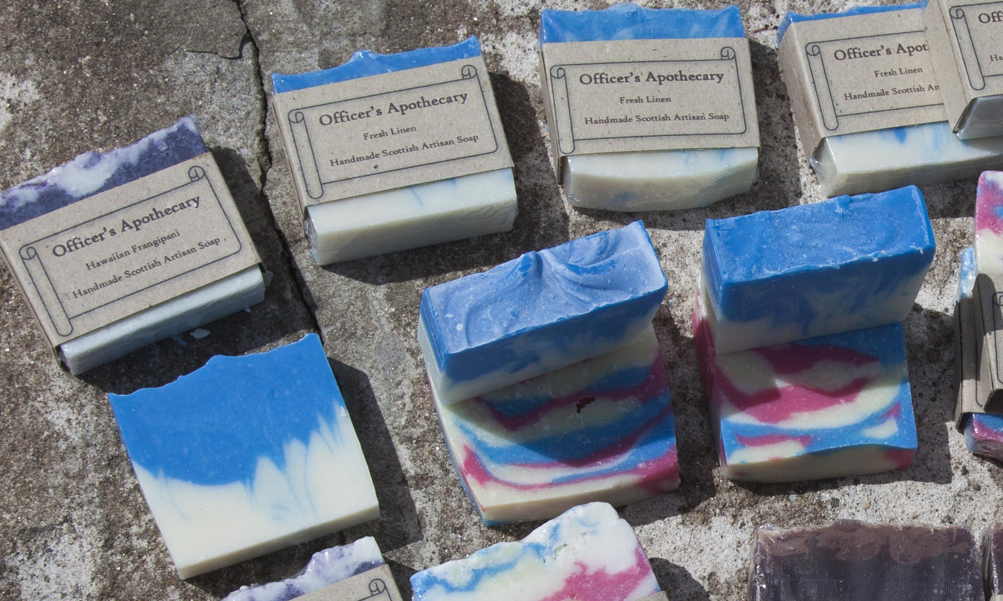 Soaps close up